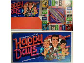 Spel Fonzie's real cool game Happy Days, kult retro vintage brädspel