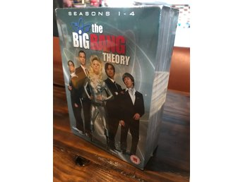 Oöppnad DVD box säsong 1-4 Big Bang Theory