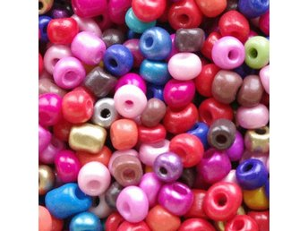 Seedbeads - glaspärlor - 4 mm - ca 550 st.
