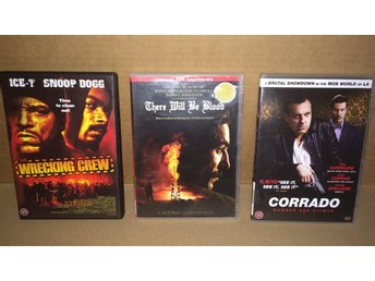 3X DVD THE WRECKING CREW,CORRADO,THERE WILL BE BLOOD - Hägersten - 3X DVD THE WRECKING CREW,CORRADO,THERE WILL BE BLOOD - Hägersten