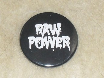 IGGY & THE STOOGES - (4,5 cm) Pin / Knapp / Badge (RAW POWER, Detroit, MC5, Punk