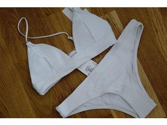 34/XS underdel/Överdel, bikini, vit bikini, trend, slutsåld, ombloggad, hm - Sundbyberg - 34/XS underdel/Överdel, bikini, vit bikini, trend, slutsåld, ombloggad, hm - Sundbyberg