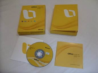 Microsoft Office Mac 2008 Home & Student Edition 3 st användar licenser