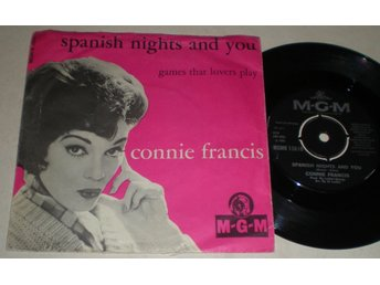Connie Francis 45/PS Spanish nights and you 1966 VG++