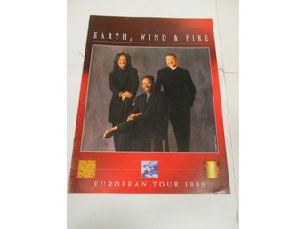 EARTH, WIND & FIRE - European Tour 1999 (Turneprogram) - Fint Skick!