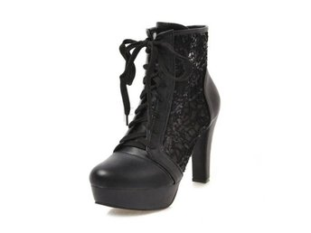 Dam Boots Sweet Fashion Boots Party Club Footwear Black 42
