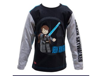 LEGO WEAR T-SHIRT STAR WARS, ANAKIN, SVART (128)