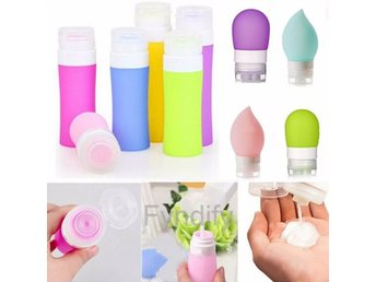 Empty Silicone Travel Packing Bottle Blå 80ML