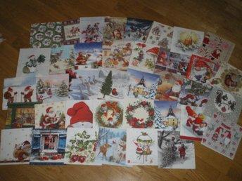 39 papper servetter Blandade jul motiv - Västerås - 39 papper servetter Blandade jul motiv - Västerås