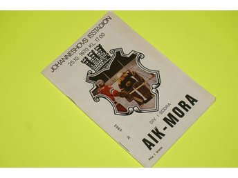MATCH PROGRAM HOCKEY JOHANNESHOVS ISSTADION AIK-MORA 25/10 1970 stockholm 70tal