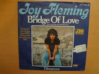 JOY FLEMING Bridge of love Eurovision 1975 Tyskland Vinyl Singel