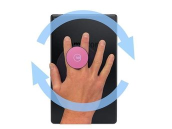 G-Hold Universal Velcro Ergonomic Handhold for Tablets (Low-profile) /Pink