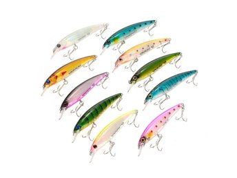 10st Lixada Vobbler Wobbler Fishing Bait Lures Crankbait Redfish Swimbait