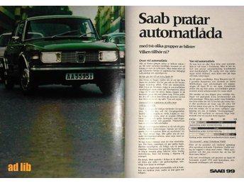 SAAB 99 AUTOMATLÅDA TIDNINGSANNONS Retro 1971 - öckerö - SAAB 99 AUTOMATLÅDA TIDNINGSANNONS Retro 1971 - öckerö
