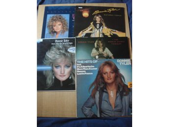 LP 5 X Bonnie Tyler med bl.a. debutalbumet The world starts  tonight