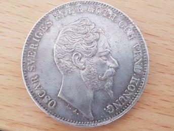 1 riksdaler 4 riksmynt 1856 bedömd till 01 - Falköping - 1 riksdaler 4 riksmynt 1856 bedömd till 01 - Falköping