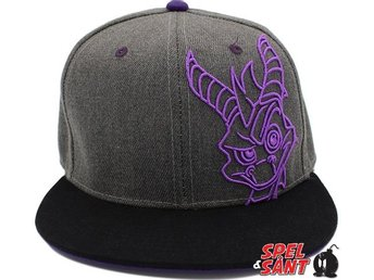 Spyro the Dragon Embroidery Snapback Keps Svart