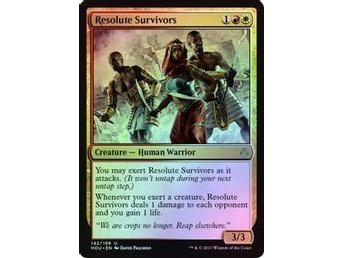 MtG Foil Resolute Survivors, Hour of Devastation