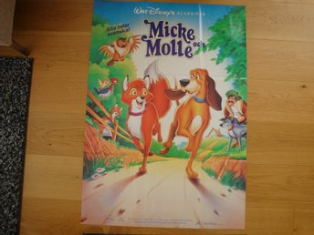 MICKE OCH MOLLE 70x100 1981 RE-95 Animation, WALT DISNEY
