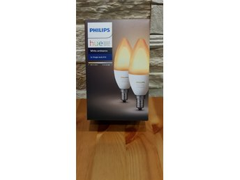 Philips Hue Ambiance 6W B39 E14 - 2 Pack (Oöppnad förpackning).