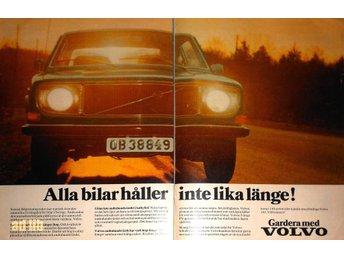 VOLVO 140 - GARDERA MED SÄKERHET TIDNINGSANNONS Retro 1971 - öckerö - VOLVO 140 - GARDERA MED SÄKERHET TIDNINGSANNONS Retro 1971 - öckerö