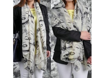 Woman Girl Marilyn Monroe Graffiti Chiffong Halsdukar Scarf