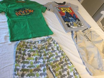 2 shorts och 2 t-shirt. Star Wars 122/128