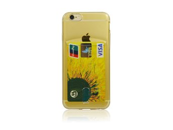 TPU card slot case iPhone 6 Guld