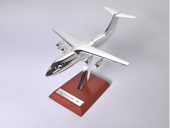 Atlas Editions Avro RJ200 Jumbolino - 1/200 scale - silver-plated!