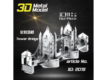 3D Pussel Metall - Berömda Byggnader - London Tower Bridge