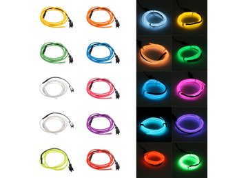1M 10 colors 3V Flexible Neon EL Wire Light Dance Party D...