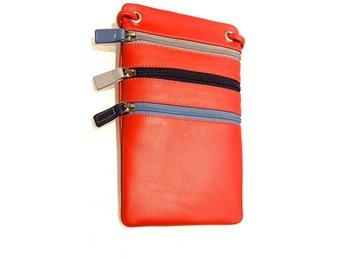 Väska för mobil och kort Mywalit superkvalité Nappa läder.