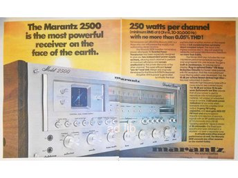 MARANTZ MODEL 2500 - THE MOST POWERFUL RECEIVER, STOR TIDNINGSANNONS1977