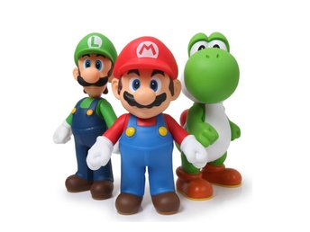 Yoshi Luigi Super Mario Bros PVC Action Figure Leksak Figurer
