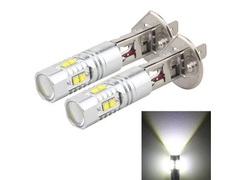 Led Dimljus H1 50W 850 LM 6000K 10 CREE LEDs Car Fog Lights, DC 12V(White Light)