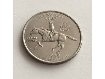 Mynt USA 1999 D DELAWARE 25 cents 1/4 Dollar Quarter