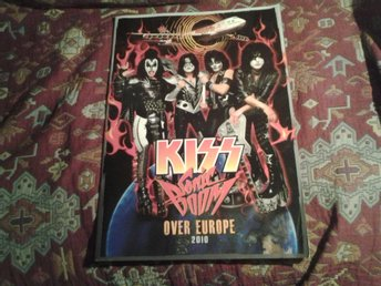 KISS SONIC BOOM TOUR 2010 PROGRAM POSTERS TURNEPROGRAM