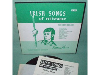 WALLACE HOUSE - Irish songs of resistance , US LP , irländskt