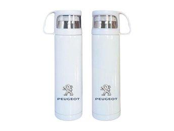 Peugeot rostfritt stål termos, Peugeot kaffetermos med mugg, Peugeot present - Karlskrona - Peugeot rostfritt stål termos, Peugeot kaffetermos med mugg, Peugeot present - Karlskrona