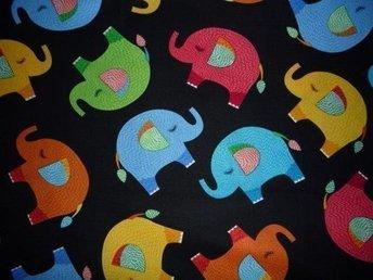 Tyg: elefanter till lapptäcke, bonad, kuddar... - Hässelby - Tyg: elefanter till lapptäcke, bonad, kuddar... - Hässelby