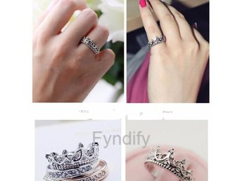 Ring Queen Crown Princess Zircon Strlk 7 (US size)