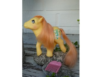 MLP - My Little Pony - G1 - Year 8 - Flower Pony - Snowdrop with Flower Pick!