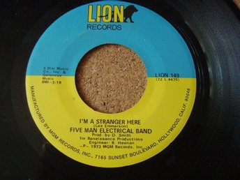 Five Man Electrical Band Psychedlic Rock / Pop Från 1973 I´m A Stranger Here