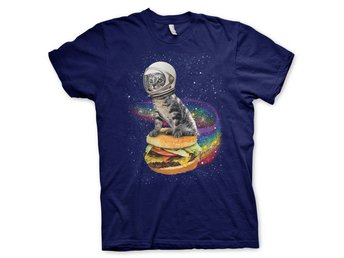 RAINBOW BURGER CAT T-SHIRT STL L