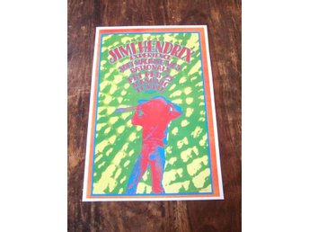Foto poster / Jimi Hendrix Experience, Soft Machine, MC5, Rationals Detroit 1968