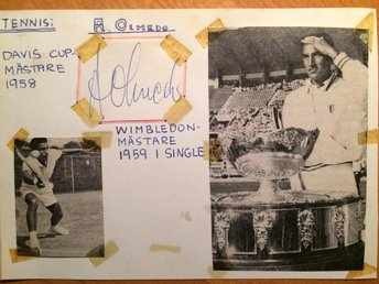 Alex Olmedo - Tennis - Vann Wimbledon 1959 - Gantofta - Alex Olmedo - Tennis - Vann Wimbledon 1959 - Gantofta