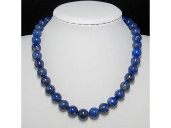 Halsband 48cm av naturlig lapis lazuli 12mm och 925 Silver - Panyu District,guangzhou City - Halsband 48cm av naturlig lapis lazuli 12mm och 925 Silver - Panyu District,guangzhou City
