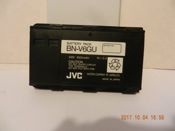 Battery pack BN-V6GU. 9,6V. 1000mAh.  Ni-Cd. JVC. VHS-C. Art.41p.ev