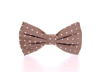 Dsquared² - Beige Polka Dot Silk Made in Italy Bowtie Tie