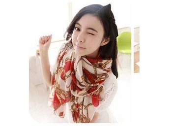 (SkU00033) Fashionable and Sexy Women Soft Chiffon Long Scarf